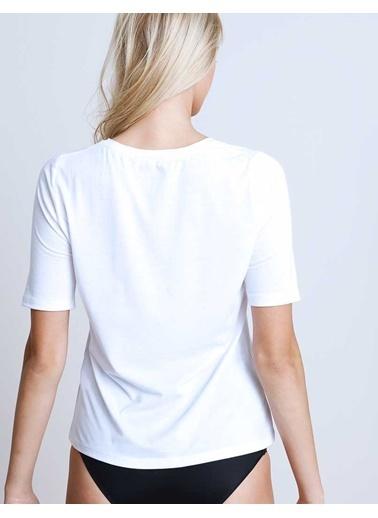 Herita Kısa Kollu T-Shirt Beyaz